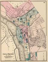 Vintage Map of Trenton New Jersey (1872)