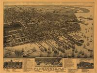 Vintage Pictorial Map of Pensacola Florida (1885)