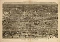 Vintage Pictorial Map of Philadelphia (1872)