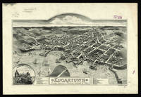 Vintage Pictorial Map of Edgartown Massachusetts (