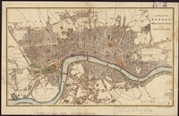 Vintage Map of London England (1807)