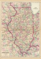 Vintage Map of Illinois (1874)