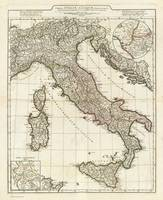 Vintage Map of Italy (1764)