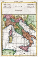 Vintage Map of Italy (1780)