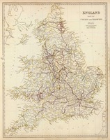 Vintage Map of England (1837)
