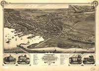 Vintage Pictorial Map of Nantucket (1881)
