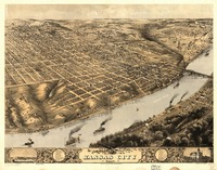 Vintage Pictorial Map of Kansas City Missouri (186