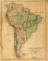 Vintage Map of South America (1821)