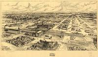 Vintage Pictorial Map of Southern Milwaukee (1906)
