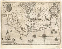 Vintage Map of The North Carolina Coast (1590)