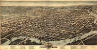 Vintage Pictorial Map of Wilmington Delaware (1874