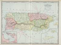 Vintage Map of Puerto Rico (1901)