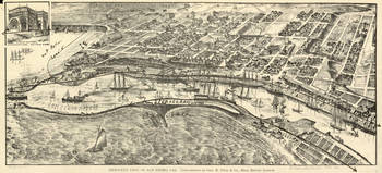 Vintage Map of San Pedro California (1902)