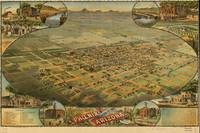 Vintage Pictorial Map of Phoenix Arizona (1885)