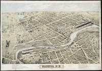 Vintage Pictorial Map of Nashua NH (1875)