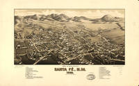 Vintage Pictorial Map of Santa Fe NM (1882)