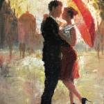 """Red Umbrella Romance"" by ChristopherClark"