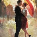 """Red Umbrella Romance"" by ChristopherClark"