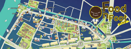 Food on Foot Map of Bangkok by chunyaporn ladsena