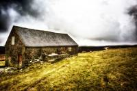 HDR of Barn in Peak District