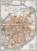 Vintage Map of Bruges Belgium (1905)