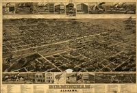 Vintage Pictorial Map of Birmingham Alabama (1885)