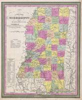 Vintage Map of Mississippi (1853)