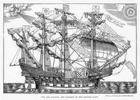 The Ark Raleigh, the Flagship of the English Fleet