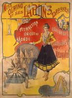 Poster advertising the show 'Miss Olwing and her R