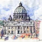 """""""Basilica di S. Pietro a Roma"""" by lucamassonedisegni"""