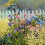 """""""Hydrangea Summer Garden"""" by KimStenbergFineArt"""