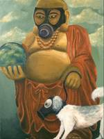 Buddha with Gas Mask
