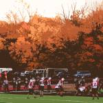 """Autumn Football with ""Cutout"" Effect"" by Ffooter"