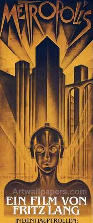 Poster from the film 'Metropolis' 1927. German exp