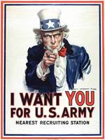 I Want You for the U.S. Army' recruitment poster d