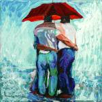 """Rainbears Red Umbrella"" by BeaconArtWorksCorporation"