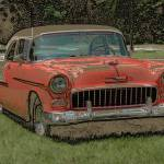 """1955 Chevy Bel Air with ""Colored Pencil"" Effect"" by Ffooter"