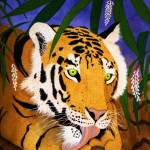 """""""Tiger Licking His Paws"""" by oenonehammersley"""