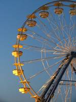 yellow ferris wheel