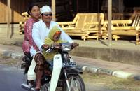 Motorized Indonesian Family