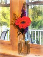 Gerbera Daisy by Kitchen Window
