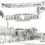 """Normal Heights San Diego California"" by BeaconArtWorksCorporation"