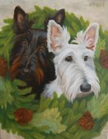 Portrait of Scotties