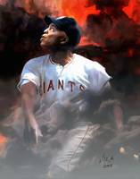 Willie Mays MLB San Francisco Giants Art