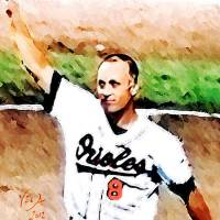 """Cal Ripken Jr MLB Baltimore Orioles Art"" by artofvela"