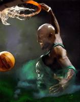 Kevin Garnett NBA Boston Celtics Art
