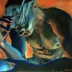 """painting Nuba"" by jluc"