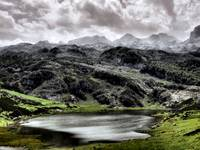 Lake Ercina in Asturias, Spain