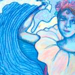 """Folkloric Dancer-Crayon"" by mqmysticenterprise"