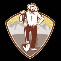 Gold Digger Miner Prospector Shield